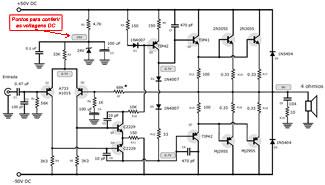 Amplificador de 120 Watts RMS com transistores