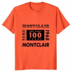 Montclair NJ 1968 Centennial Banner T-Shirt