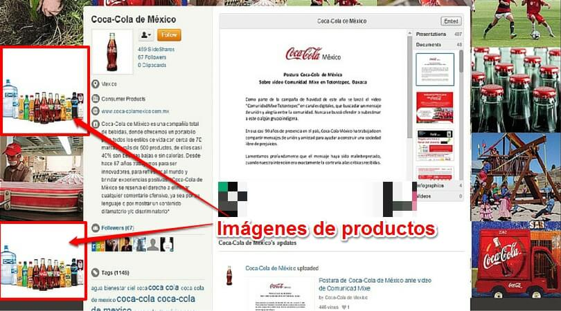 Ventajas Slideshare Coca Cola México productos