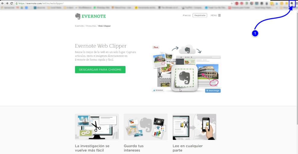 Web Clipper como herramienta de la agenda digital Evernote