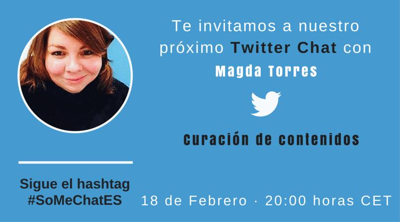 Curación de contenido - tweetchat con Magda Torres