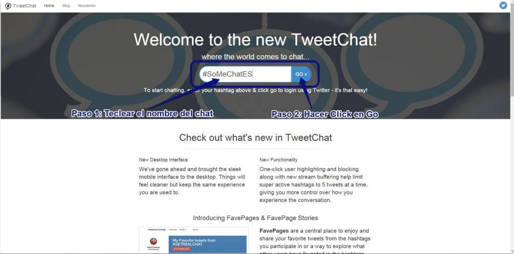 Tweetchat1- Twitter chats en español