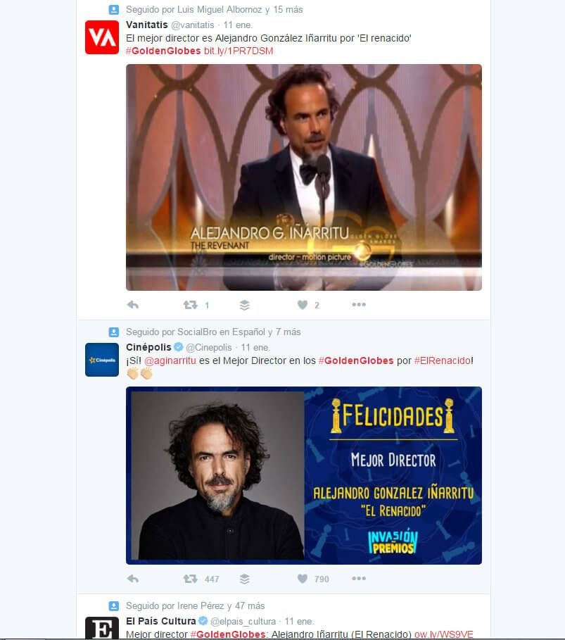 Herramientas de Marketing hashtag #goldenglobes