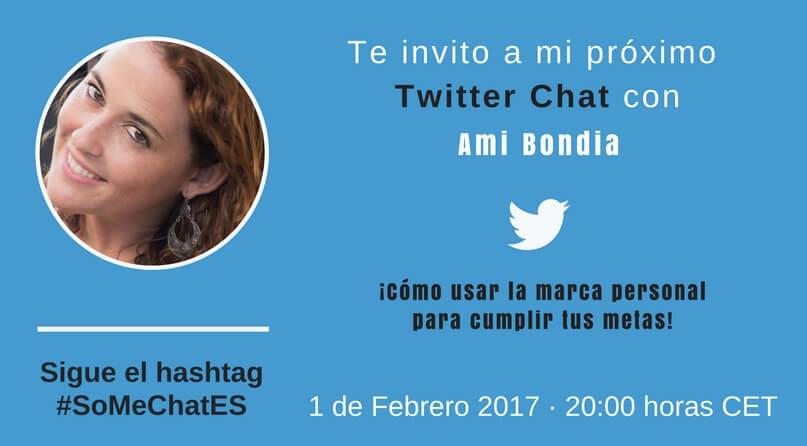 Cómo crear tu propia marca personal Twitter chat Ami Bondia