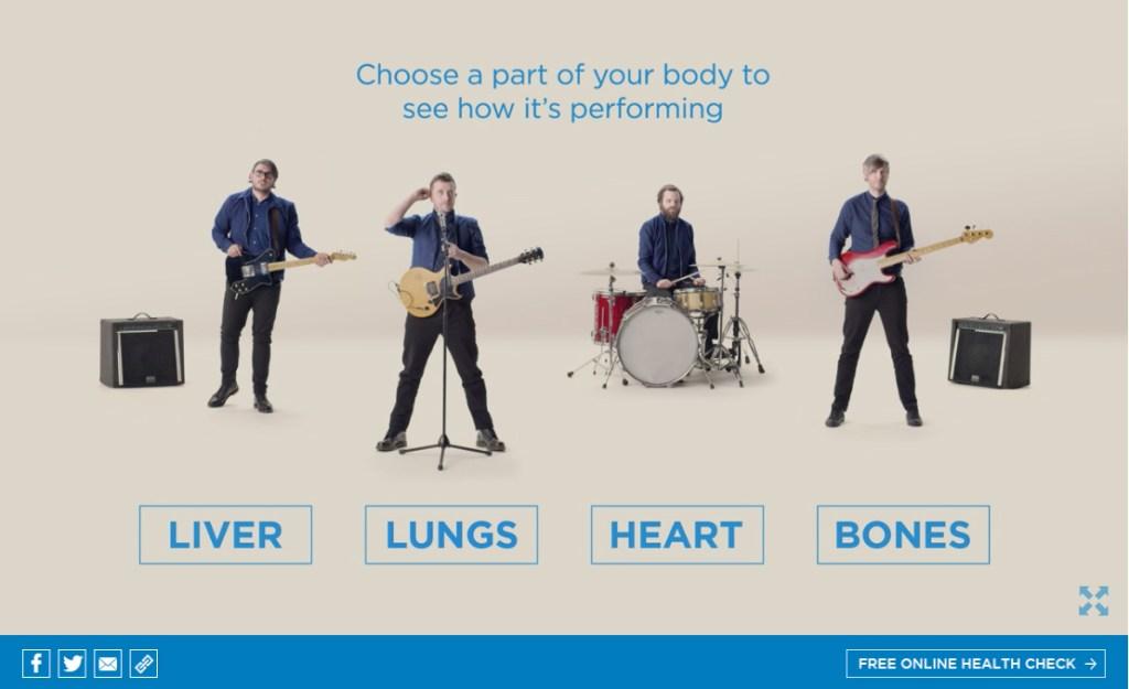 Ejemplos de marketing de contenidos - banda salud