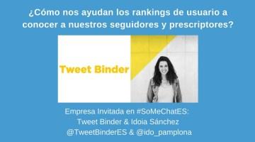 Rankings de usuario para conocer a seguidores y prescriptores – Twitter chat