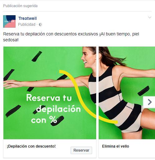 Marketing para apps Publicidad Treatwell
