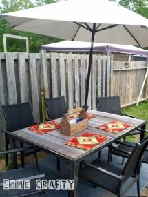Shabby Chic Farmhouse Style Outdoor Table Somecrafty