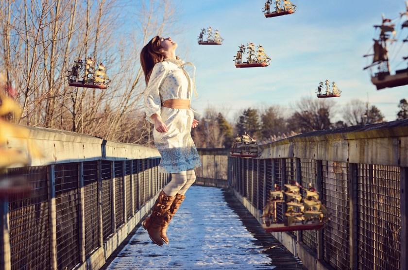 Levitation Self Portrait of Sheri Kowalski