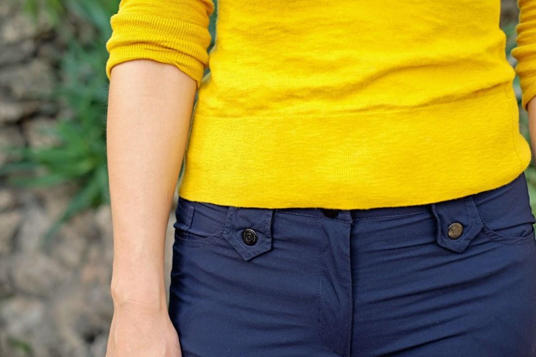 Belt loop detail of Skyler Skinny Pants.