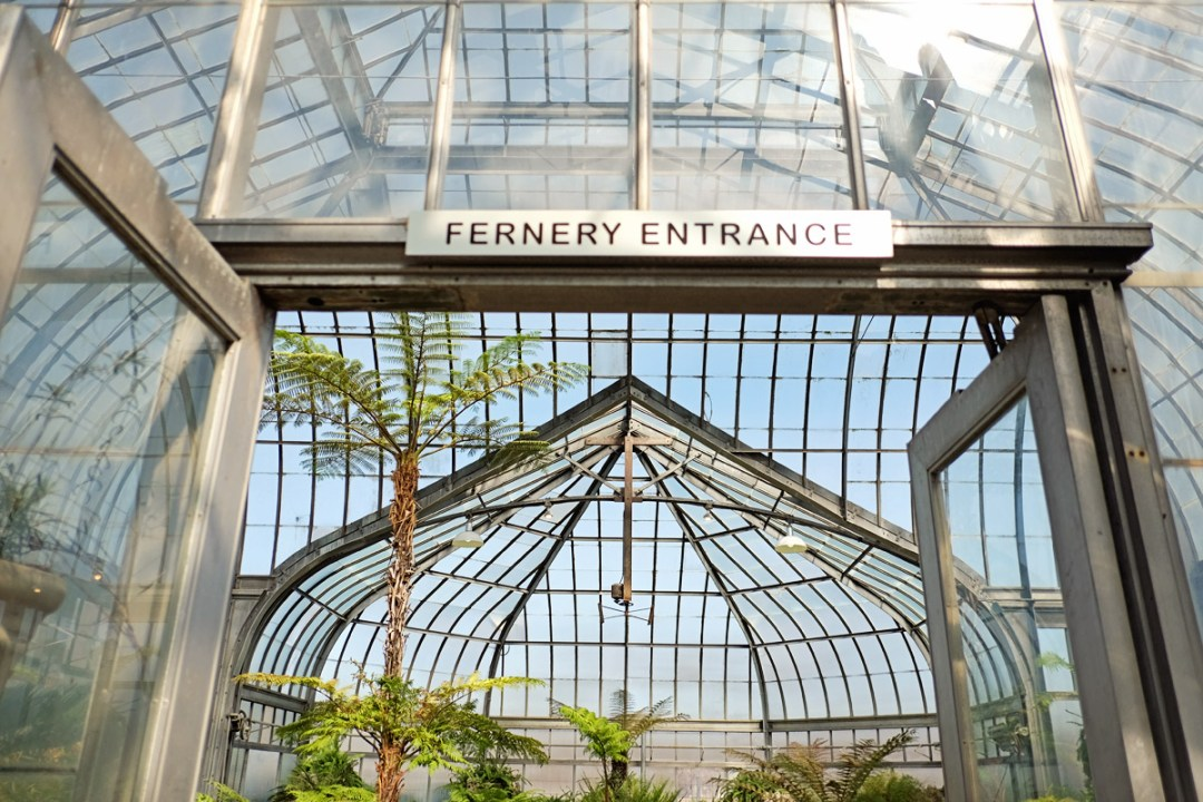 The entrance to the Fernery on Belle Isle.
