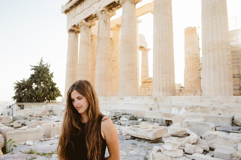 Sheri at the Acropolis