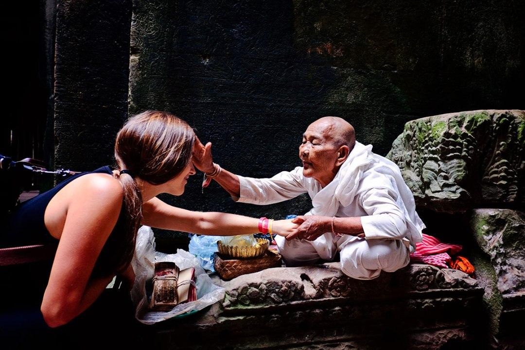 Nun at Angkor Wat