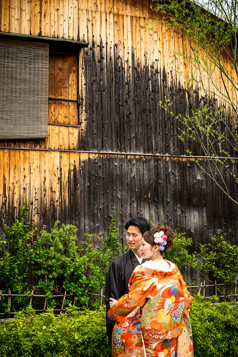 A Japanese Couple in Gion Japan