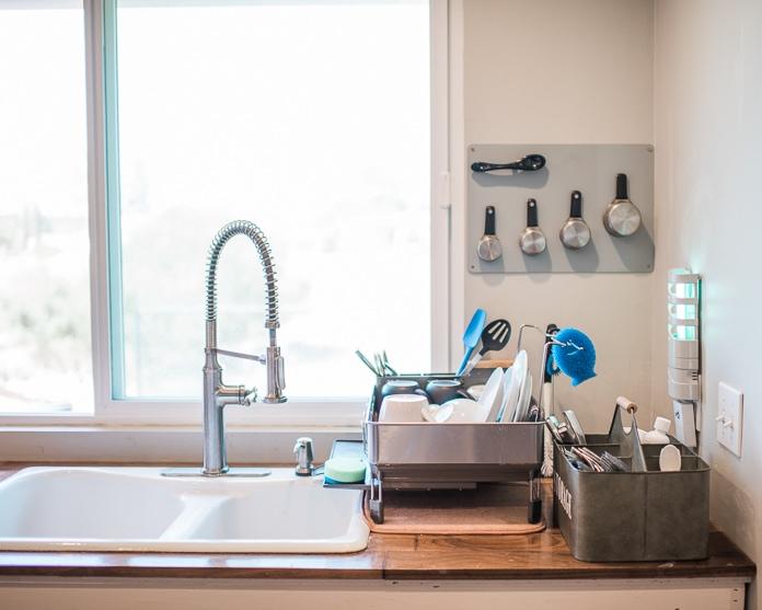 kitchen sink organizer ideas for a