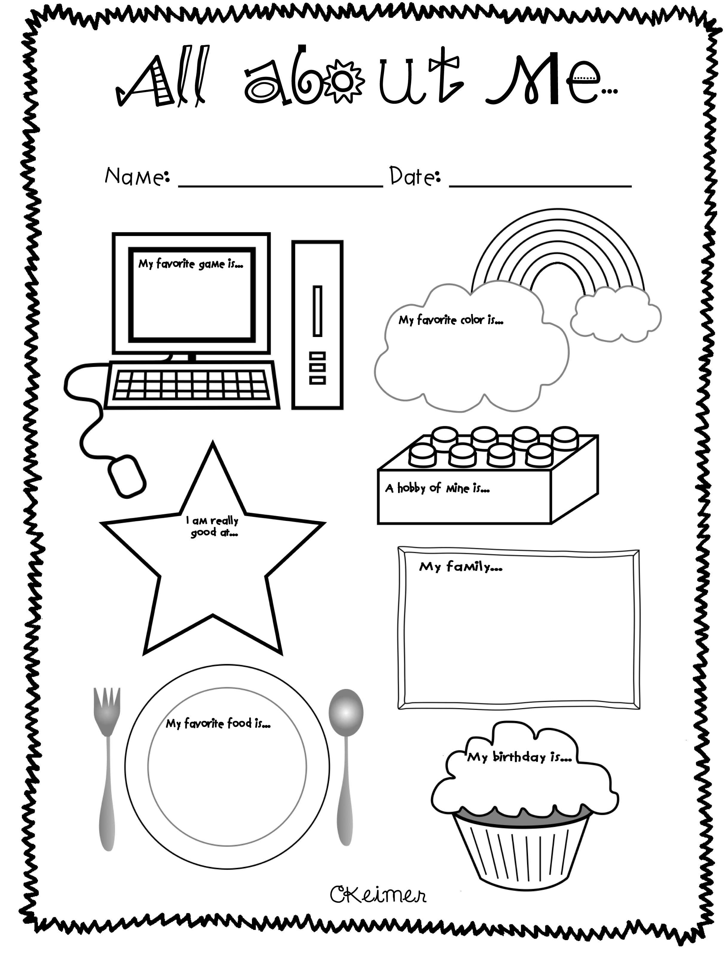 All About Me Activities: A Multiple Intelligences