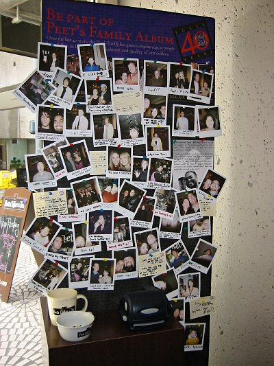 Peet's picture wall