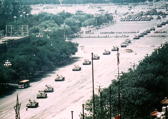 Tiananmen Tank Man Wide