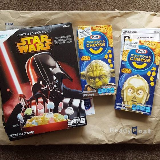 Today's #starwars delivery. Thanks @thewingsee !!! - from Instagram