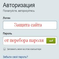 Защита сайта от перебора пароля