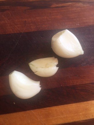 3 cloves of garlic.