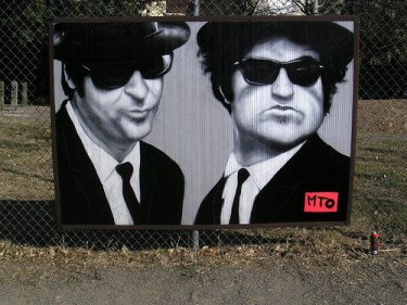 MTO (Graffiti Street art): Blues Brothers