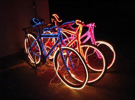 Bicicleta de Led