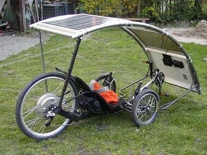 Bicicleta a energia solar