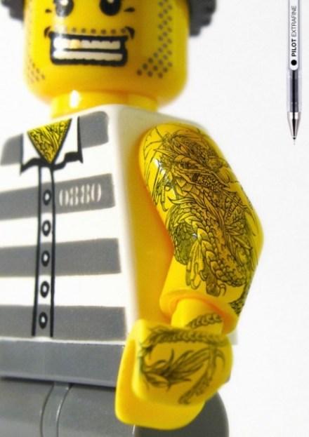 Legos tatuados