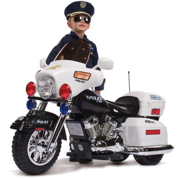 Mini moto motorizada elétrica policial