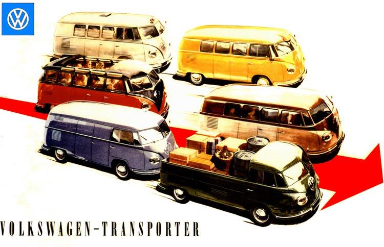 Volkswagen Kombi coloridas