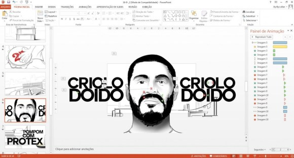 Criolo no Power Point