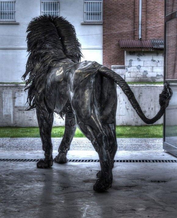 Leão de Metal - Escultura (10)