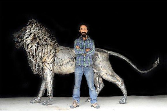 Leão de Metal - Escultura (11)