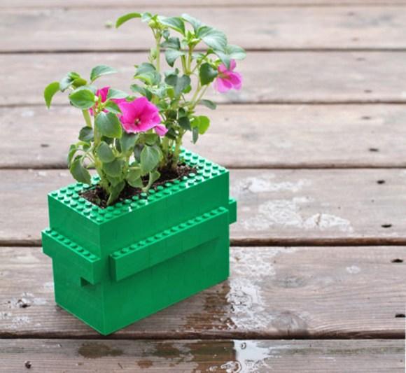 Vaso de plantas de Lego