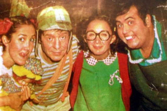 Fotos raras - Chaves e Chapolin (27)