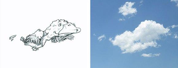 Desenho em nuvens - Pato (2)