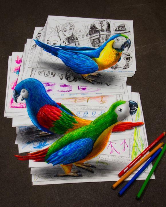 desenhos 3d - 17