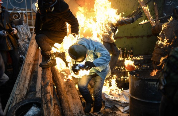 """TOPSHOTS 2014-UKRAINE-POLITICS-UNREST"""