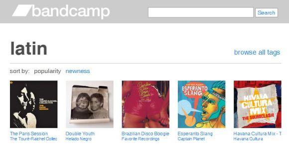 Descobrir novas músicas - Bandcamp