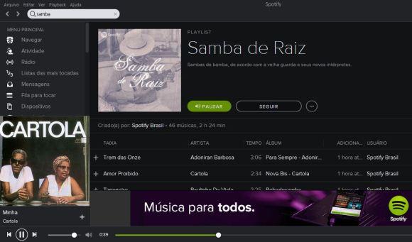 Descobrir novas músicas - Spotify