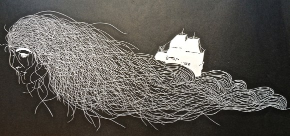 Escultura de papel cortado 4