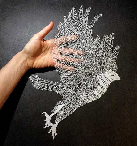 Escultura de papel cortado 6