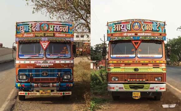 Caminhões decorados da Índia - 16