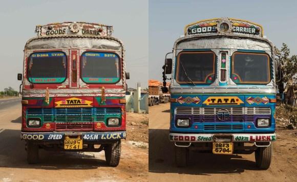 Caminhões decorados da Índia - 8