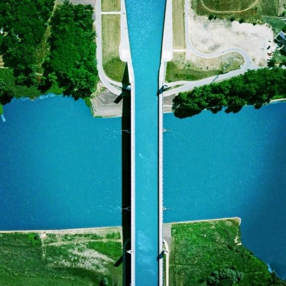 Ponte navegável de Magdeburg - Alemanha - Fotos aéreas