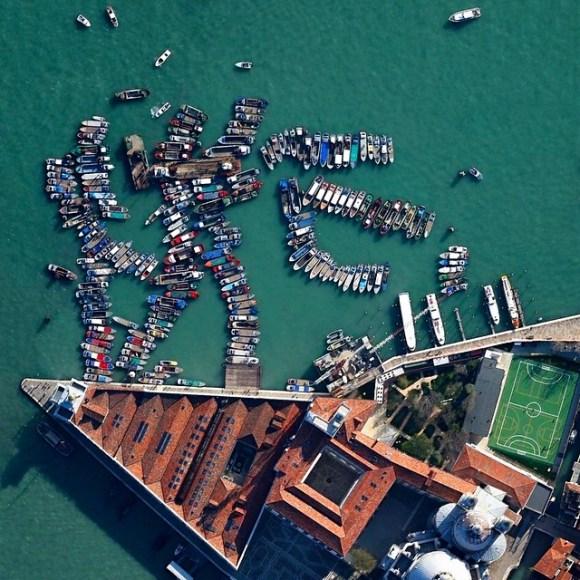 Punta della Dogana - Veneza - Itália - Fotos aéreas