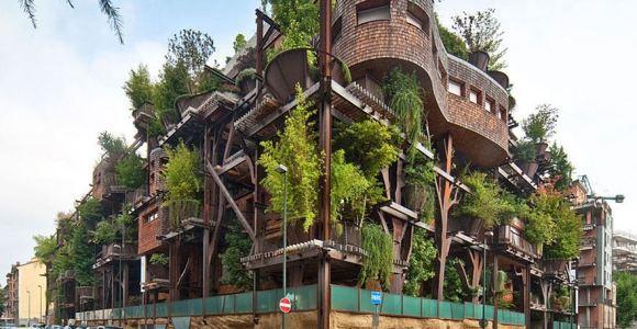 Como uma casa na árvore gigante, prédio protege moradores do barulho, calor e poluição