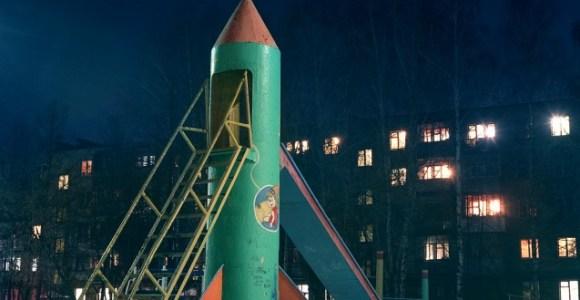 Antigos playgrounds russos em forma de foguete são ruínas da corrida espacial