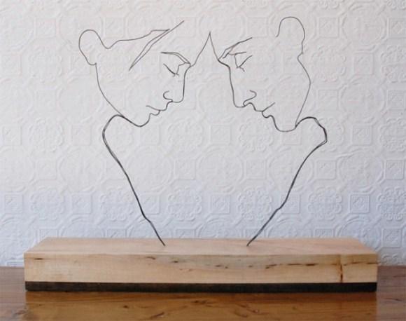 Esculturas de arame 3
